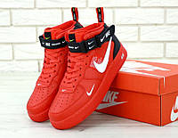 Nike Air Force 1 Mid Red  , фото 1