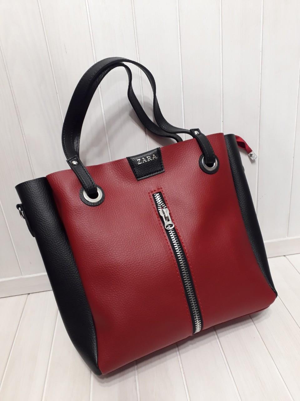 4133f5b3ab5a Модная женская сумка-тоут из кожзама 30*30 см, цена 426,80 грн ...