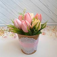 """Подарочный набор, цветочная композиция из мыла """"Тюльпаны"""""""
