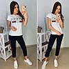 Костюм Gucci, футболка и брюки с полосой 7/8 размеры от 42 до 52, фото 2