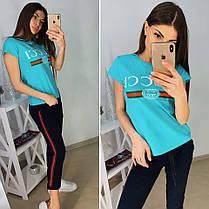 Костюм Gucci, футболка и брюки с полосой 7/8 размеры от 42 до 52, фото 3