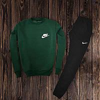 Мужской спортивный костюм, чоловічий костюм Nike (свитшот +штаны) (хаки)  Реплика
