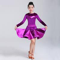 Платье для бальных танцев с атласными вставками