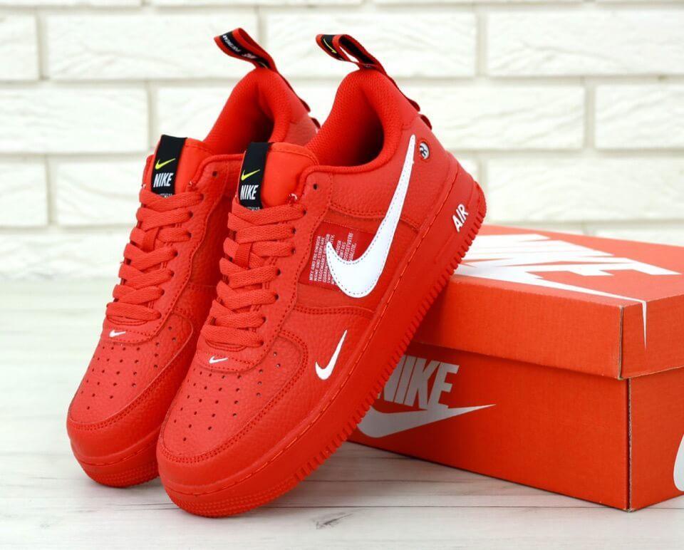 Мужские красные кроссовки Nike Air Force 1 Low Red