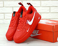 Мужские красные кроссовки Nike Air Force 1 Low Red, фото 1