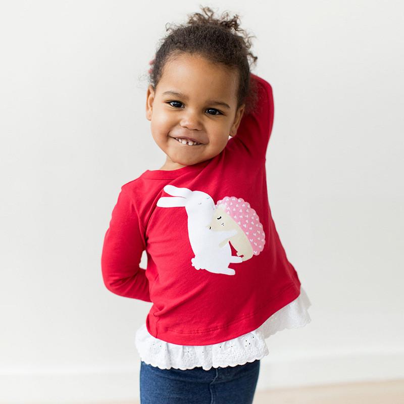Кофта для девочки Еж и зайка Little Maven