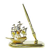 Настольный прибор Swarovski Кораблик с ручкой