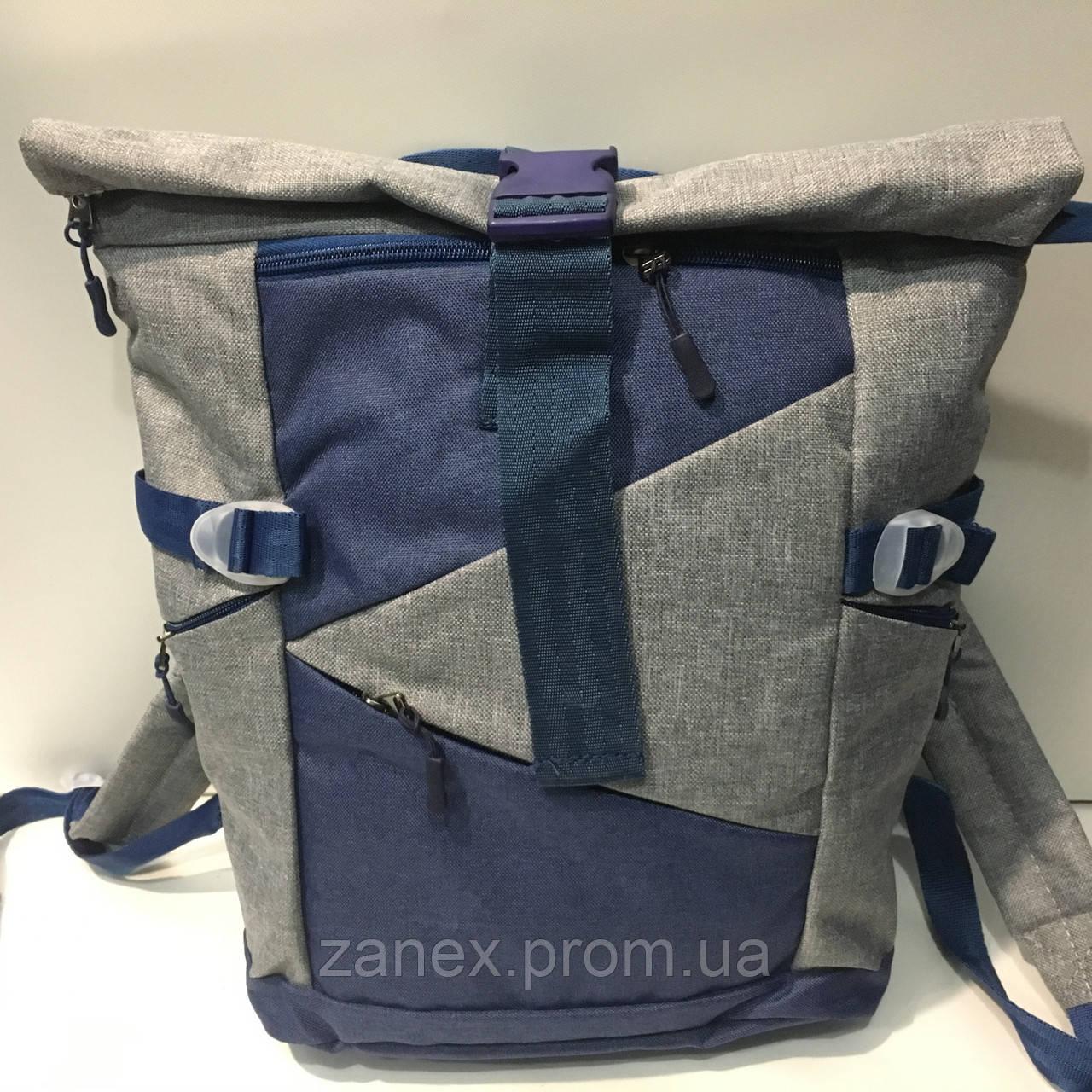 Рюкзак Zanex серый с синим