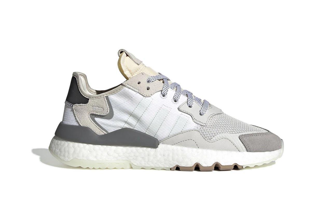 cd382d72 Женские кроссовки Adidas Nite Jogger Crystal White (в стиле Адидас )  бежево-серые, сетка