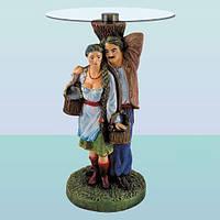Журнальный стеклянный стол Песня Карпат (А), кофейный столик для дома