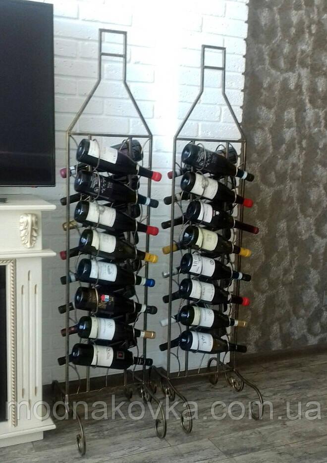 Кованая подставка для вина на 16 бутылок