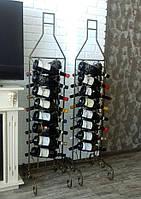Кованая подставка для вина на 16 бутылок , фото 1