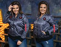 Куртка плащёвка с принтом  (48-58)