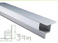 Алюминиевый профиль для светодиодной ленты 38х45мм c диффузором