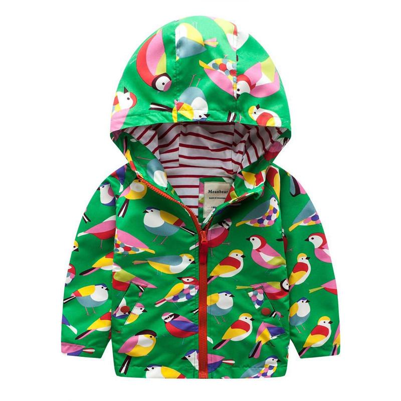 Куртка для девочки Птички Meanbear