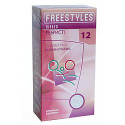 Презервативы Freestyles Ribbed 12 шт, ребристые