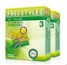 Презервативы Freestyles 3 шт Max Pleasure точечные