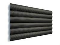 Блок хаус ТермаСтил - металлический сайдинг 0,5 мм RAL 9005 Black мат