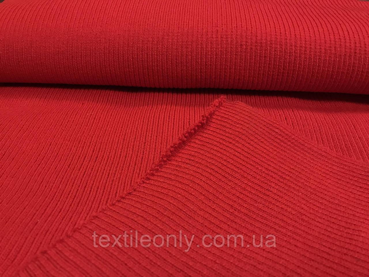 Довяз трикотажний гумка колір червоний 45 см