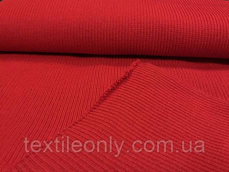 Довяз трикотажний гумка колір червоний 45 см, фото 2