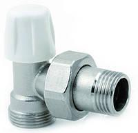 Icma 827 Кран радиаторный 1/2 б/ручки угловой под фитинг