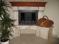 Камины, камины  в частном доме, камин для отопления с чугунной топкой Professional (дверца Comfort) 18 кВт