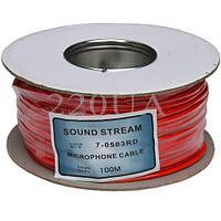 Кабель микрофонный Sound Stream 2x0.17 мм² OFC CU красный 100м