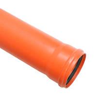 Труба канализационная наружная д.110х3м SN2 (2,7) ПВХ Мпласт
