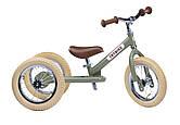 Балансирующий велосипед трехколесный, цвет оливковый Trybike