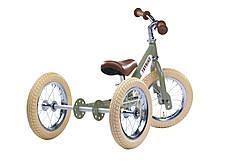 Балансирующий велосипед трехколесный, цвет оливковый Trybike, фото 3