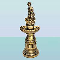 Декоративный фонтан для интерьера дома и сада водопад  статуя Девушка на камне