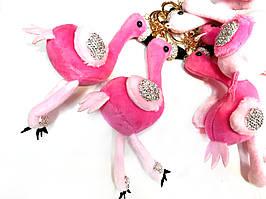 Брелок  Фламинго в стразах