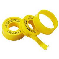 Фум лента д/газа желтая 12мм.х0.1х10м (603)