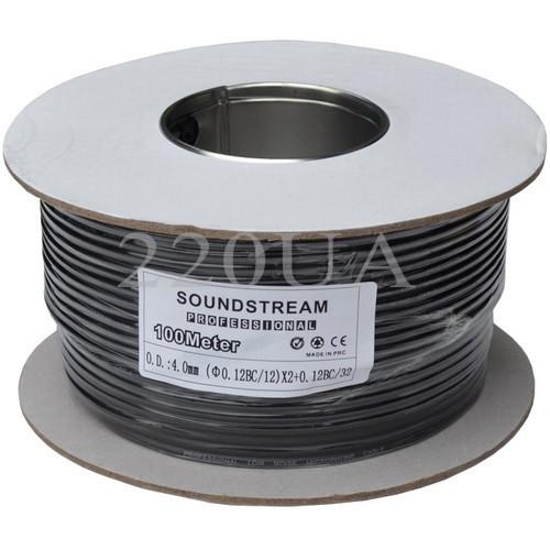 Кабель микрофонный Sound Stream 2x0.14 мм² OFC CU черный 100м