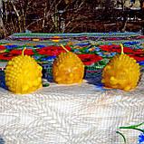 """Восковая свеча """"Ёжик"""" из натурального пчелиного воска, фото 7"""