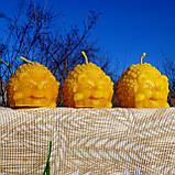 """Восковая свеча """"Ёжик"""" из натурального пчелиного воска, фото 8"""