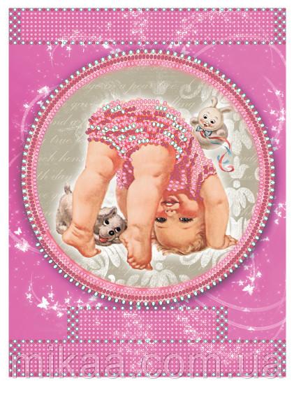 Метрика для девочки вышивка с бисером