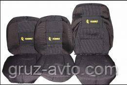 Чехлы на сиденья Камаз-5320, 2-низких и 1-высокое.