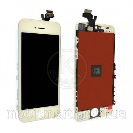 Дисплей (Lcd) iPhone 5 white +touchscreen copy-original