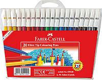 Фломастеры Faber-Castell 20 цветов FIBRE-TIP