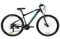 """Гірський велосипед OPTIMABIKES AL F-1 DD 29 AM""""(чорно-бірюзовий)20r, фото 1"""