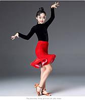 Костюм для спортивно-бальных танцев с яркой юбкой
