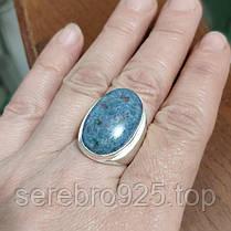 Массивное кольцо с натуральным камнем в серебре 17,5 р., фото 2