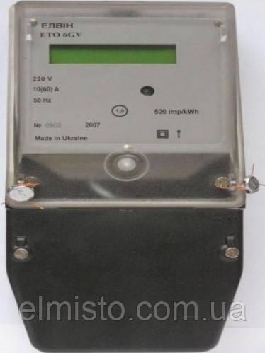 Электросчетчик ЭЛВИН ETO 6GZ  220V 10-60A электронный однотарифный, ТВ + RS 485