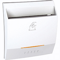 Выключатель карточный 2-модульный Белый Schneider Electric Unica (MGU3.283.18), фото 1