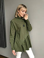 Модная женская рубашка / бенгалин / Украина 23-154, фото 1