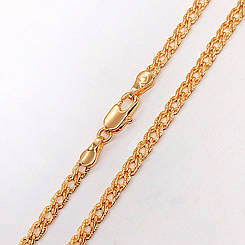"""Цепочка Xuping Jewelry 50 см 4 мм """"Ромбик"""" с насечками, медицинское золото, позолота 18К. А/В 2737"""