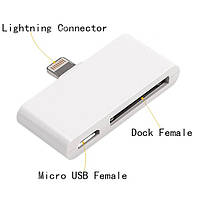 Адаптер Micro USB | Lightning | 30pin iPhone iPad, фото 1