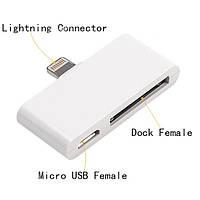 Micro USB Lightning iPhone 5 8 pin 30 pin iPad