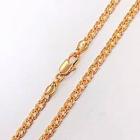 Цепочка Xuping Jewelry 60 см х 4 мм Ромб с насечками, медицинское золото, позолота 18К. А/В 2738